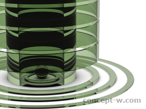green glass structure