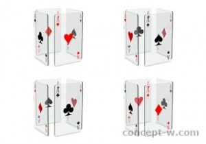 glass playing cards