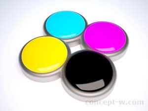 cmyk colors 3D