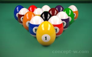 billiards with eggs