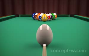 Billiard with Easter eggs