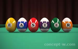 pool with eggs