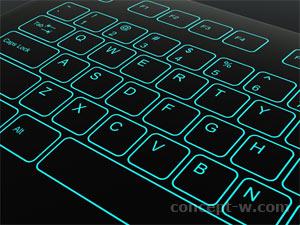 Illuminated keyboard design details