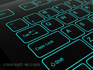 illuminated keyboard design details