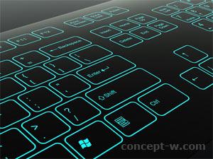 illuminated keyboard design