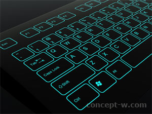 gorilla glass keyboard