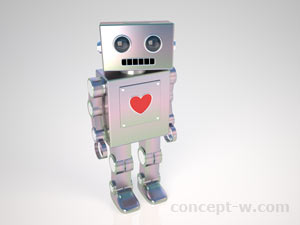 3d old style robot