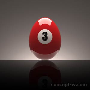 Number 3 red egg
