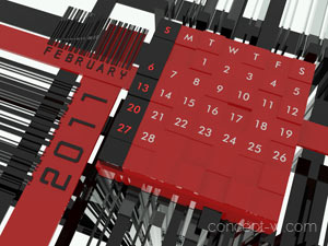 Calendar 2011 3D concept