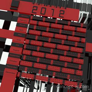Calendar 2012 3D