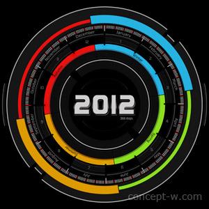 futuristic calendar