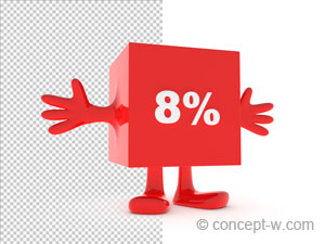 8 percent