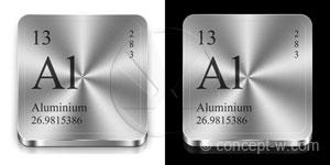 aluminium metal buttons