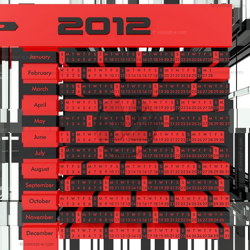 Calendar Design Concept : Calendar d concept design