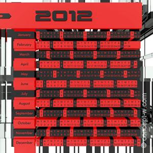 calendar 2012 concept