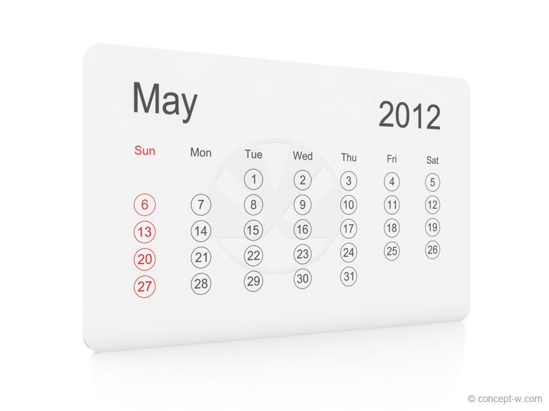may 2012 calendar