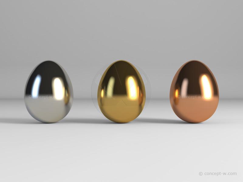 gold egg silver egg bronze egg