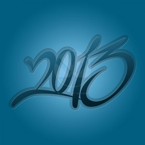 2013 blue calendar background
