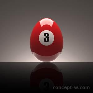 Number 3 Red Egg